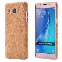 Samsung Galaxy J5 (2016)  CORCHO FUNDA MADERA NATURAL HARD CASE CASO COVER CAJA
