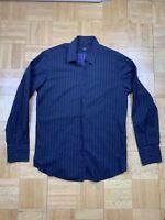 Hugo Boss Men's L/S Button Down Striped Dress Shirt Large Regular fit
