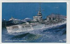 "HM LIGHT CRUISER ""DAUNTLESS"": Naval shipping postcard (C20248)"