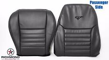 99-04 Ford Mustang GT -Complete Passenger Perforated Leather Seat Covers BLACK