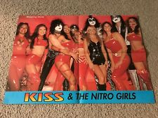 Vintage KISS Poster GENE SIMMONS PAUL STANLEY ACE FREHLEY 2000 WCW NITRO GIRLS