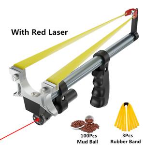 ✅ Outdoor Hunting Straight Rod Telescopic Slingshot + High Power Laser Catapult