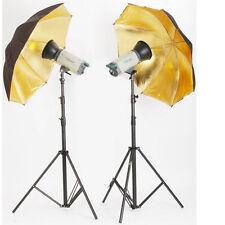 "33"" 83cm Umbrella Reflector For Studio Flash Photography Speedlite Glod Black"