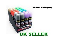 12x GLITTER COLOUR HAIR SPRAY FANCY DRESS PARTY OCCASION WASHOUT TEMPORARY