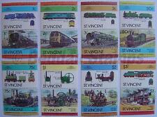 1984 ST VINCENT Set #2 Train Locomotive Railway Stamps (Leaders of the World)