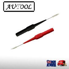 Fluke multimeter test leads extending back to the micro needle needle probe AU