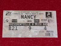 [COLLECTION SPORT FOOTBALL] TICKET PSG / NANCY 27 JANVIER 2002 Coupe Ligue 1/4