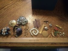 Vintage Metal Artist Brooches Job Lot of 12 Great Variety