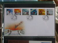 UK 2004 CHRISTMAS SET 6 STAMPS PEEL & STICK FDC FIRST DAY COVER