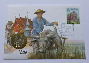 Laos / Lao 10 Kip 1988, Cover-Stamp, 5-masted clipper