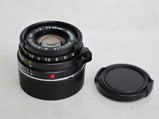 Leica M Minolta M-Rokkor QF 40mm f:2 lens with caps CLE, M2, M3, M4, M6, MP