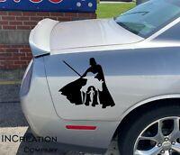 Car Truck Star Wars Vinyl Decals Darthvader Sticker Jedi Both sides vehicle gift
