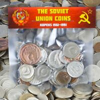 USSR SOVIET RUSSIAN 30 KOPEK COINS 1961-1991 COLD WAR HAMMER AND SICKLE CCCP