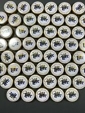 100 Miller Light Beer Bottle Caps New Style White Metal Crafts