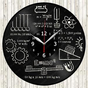 Physics Vinyl Record Wall Clock Decor Handmade 1762
