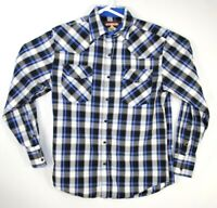 Cody James Mens Western Shirt Pearl Snap Button Up Long Sleeve Plaid size M