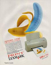 Publicité 1998  Imprimante jet d'encre couleur Lexmark 2050