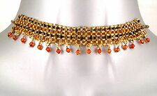 Golden Indian American Moulin Burlesque Wedding Bridal Prom Goth Choker Necklace