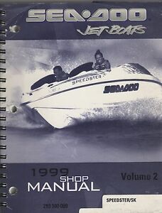 1999 SEA-DOO  JET BOATS  VOLUME 2  SERVICE SHOP MANUAL 219 100 099 (158)