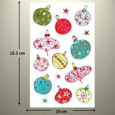 Craft Clearout PEEL OFFS x 6 Sheets Christmas Sentiments Gold Silver Red Green L