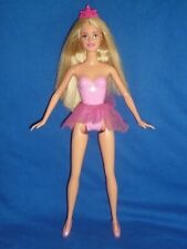 Modern Mattel Ballerina Barbie Doll ~ Long Straight Blonde Hair ~ Tiara & Outfit