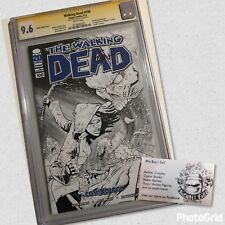 Walking Dead Comic #100 Comixology Cgc SS 9.6 BLACK N WHITE Ryan Ottley Signed