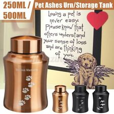 New listing Cremation Urns Ashes Memorial Pet Cat Dog Steel Secure Threaded Lid