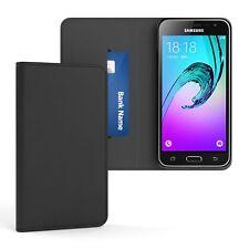 Tasche für Samsung Galaxy J3 (2016) Cover Handy Schutz Hülle Case Etui Schwarz