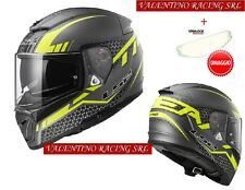 LS2 FF390 CASCO MOTO INTEGRALE BREAKER SPLIT MATT TITANIUM YELLOW TG L + OMAGGI