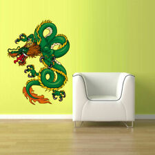 Full Color Wall Vinyl Sticker Decals Dragon Fire Smoke (Col504)