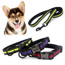 KE_ Puppy Pet Dog Reflective Collar Buckle Safe Necklace Neck Band Strap Leash
