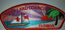 Sunny Land Council shoulder patch CSP s5 MERGED Sarasota, Florida mint BSA