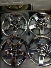 "(4) New Chrome Wheel Covers Hub Caps Fits 17"" 2008-2012 Chevrolet Malibu"