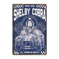 Metal Tin Sign shelby cobra Bar Pub Home Vintage Retro Poster Cafe ART