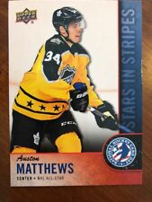 2018 UD National Hockey Card Day America Star In Stripes #USA-10 Auston Matthews
