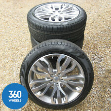 "NEW GENUINE RANGE ROVER SPORT 21"" 5 SPLIT SPOKE DIAMOND ALLOY WHEELS STYLE 15"