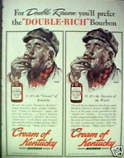 "1940 Rockwell""Cream Of Kentucky""Bourbon Whiskey Double~Rich Trade Art Ad"