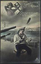 AK Postcard 1915 Army Soldiers Sailor Matrose Meer Ships Post Feldpost WWI (35)