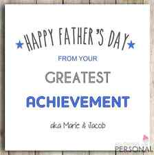 Personalised Dad Daddy Father Fathers Father's Day Joke Funny Cheeky Card D1