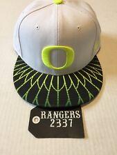 Nike True Oregon Ducks 'Win the Day' Snapback Hat Cap White Volt USED Rare!