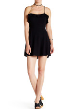 NEW Free People More Than A Mini Lace-Up Dress In BLACK Sz  XS NWT