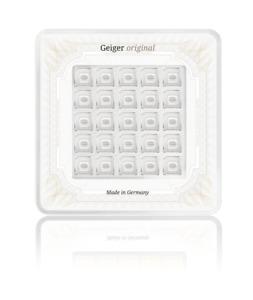 Multicard 25x 1 gram .9999 Silver bars Geiger Original in assay