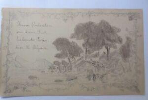 Altes Briefpapier Handgemalt aus dem Jahr 1896 ♥ (37K)