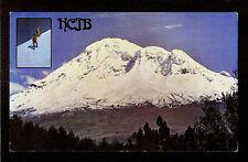 """QSL """"HCJB"""" 5.970 MHz Radio Quito Ecuador ~ Mt Chimborazo Climbers DX SWL 1975"""