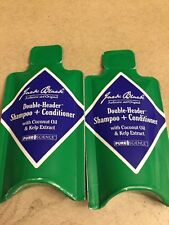 2 JACK BLACK DOUBLE HEADER SHAMPOO & CONDITIONER W/ COCONUT OIL & KELP SAMPLE