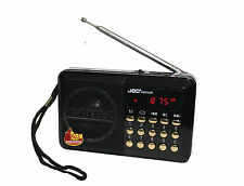 Küchenradio FM Radio Tragbar Musik Box MP3 Player USB SD AUX Lautsprecher Black