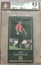 '98 Champions of Golf Tiger Woods Beckett 8.5 Rookie Card The Masters Collection