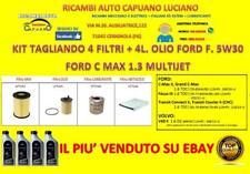 KIT TAGLIANDO FORD C-MAX II 1.6 TDCI 85KW 115CV DAL 12/2010 + OLIO MOT FORD 5W30