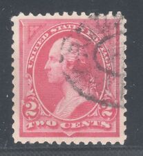 U.S. STAMP #250 ---  2c WASHINGTON (CARMINE)  - 1894 - USED