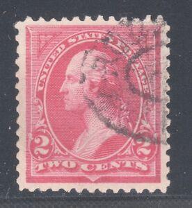 U.S. STAMP #250 ---  2c WASHINGTON (CARMINE)  - 1894 - USED